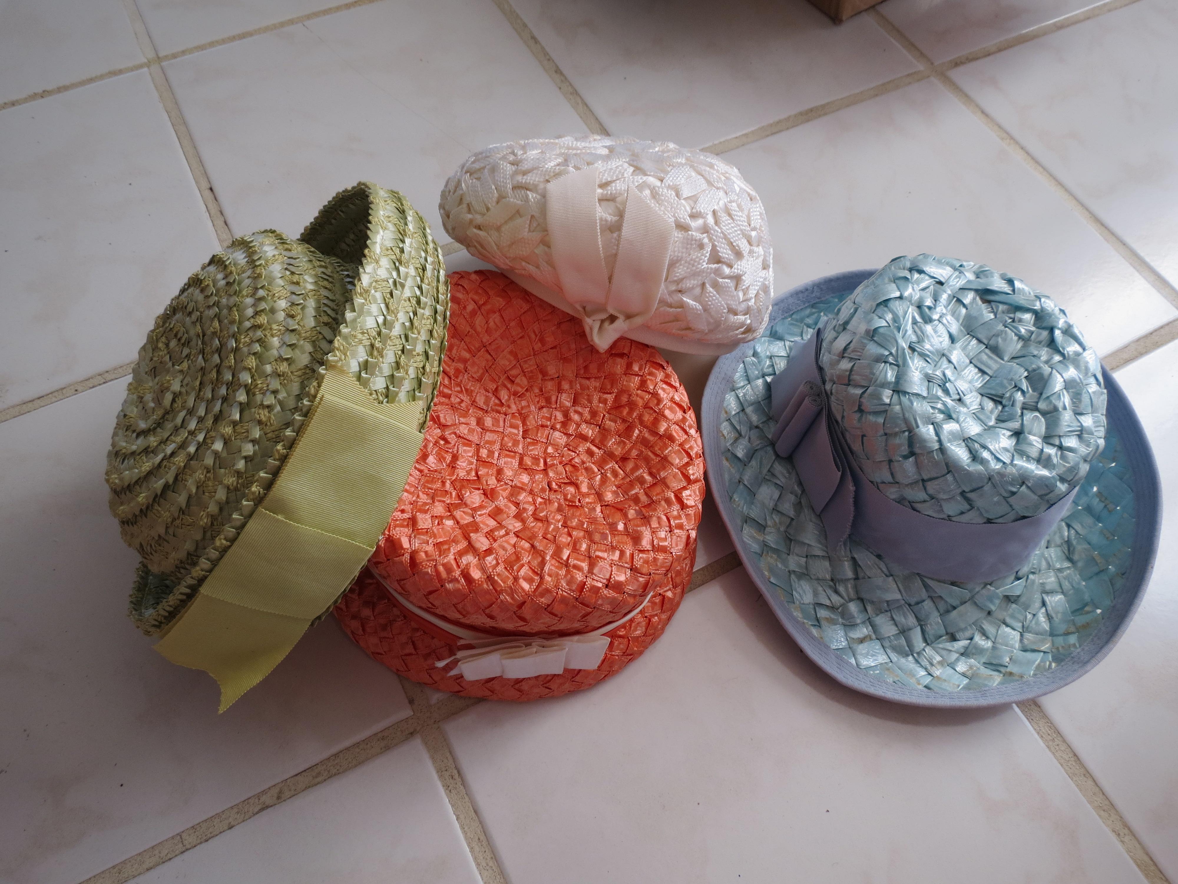 Sherbet colors - True vintage Spring & Summer hats