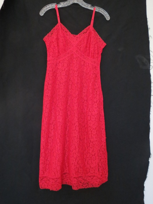 TRUE VINTAGE 1950S LINGERIE SLIP/DRESS VALENTINE'S DAY STUNNER