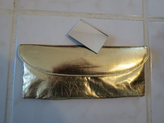ELEGANT TRUE VINTAGE 1950S/'60S LEATHER CLUTCH FOR THE VALENTINE'S DAY BASH