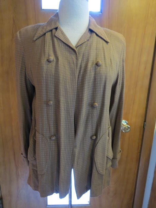TRUE VINTAGE LATE 1940S - EARLY 1950S SWING JACKET