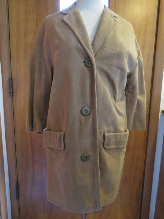 ANOTHER TRUE VINTAGE CAR-COAT, 1950S TO EARLY '60S
