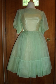 PERFECT TRUE VINTAGE 1950s  PARTY DRESS FOR ST. PATRICK'S DAY