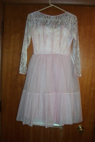 TRUE VINTAGE PARTY OR SPECIAL OCCASION DRESS 1950s OR EARLY 1960s