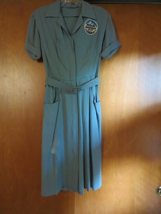 TRUE VINTAGE 1940s BOWLING TEAM DRESS/UNIFORM