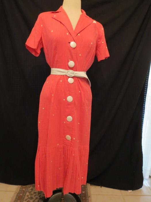 True Vintage 1940's Summer Day-Dress by Lora Lenox