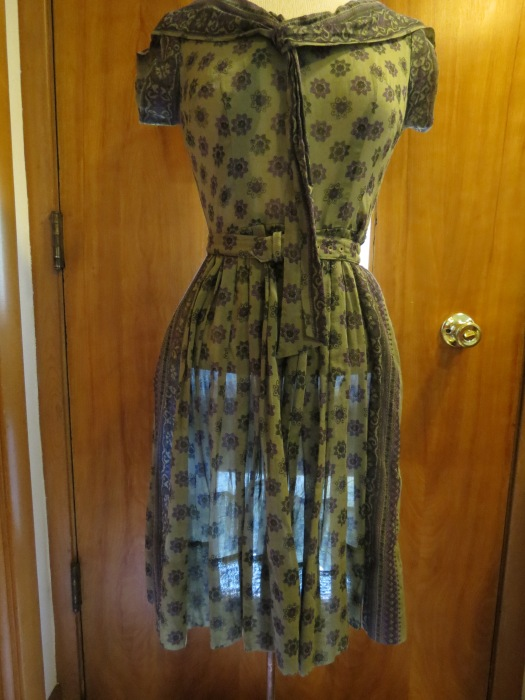 TRUE VINTAGE 1950'S - EARLY '60'S SHEER SUMMER DAY-DRESS
