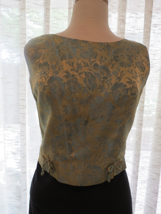 TRUE VINTAGE 1950'S JACQUARD COCKTAIL BLOUSE