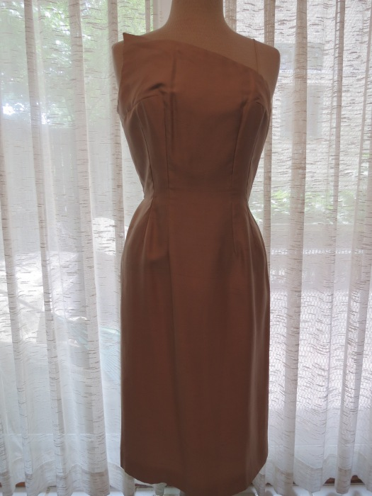 TRUE VINTAGE 1950'S COCKTAIL SHEATH DRESS