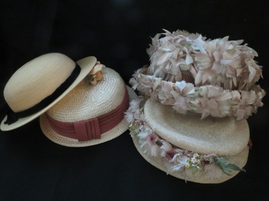 TRUE VINTAGE '40'S & '50'S STRAW HATS IN FALL PASTELS