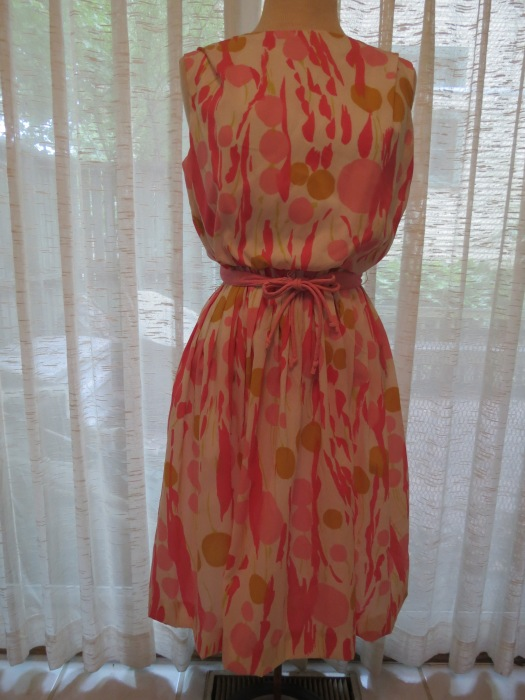 TRUE VINTAGE COTTON CANDY CONFECTION OF A FROCK - EARLY 1960'S