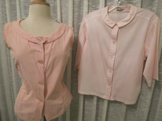 TWO TRUE VINTAGE BLOUSES IN IMPORTANT MATERIALS