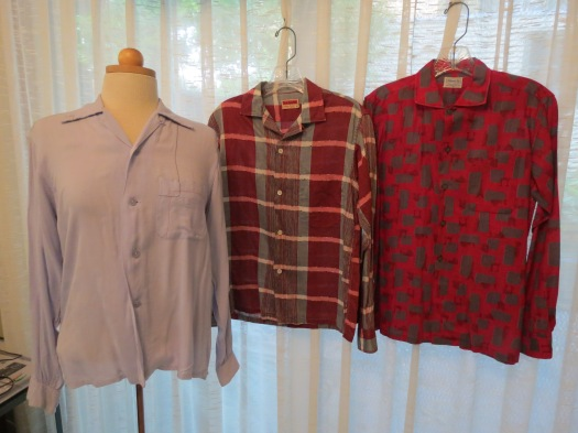 TRUE VINTAGE MEN'S SHIRTS FROM THE 1950'S THAT I LOVE TO WEAR!