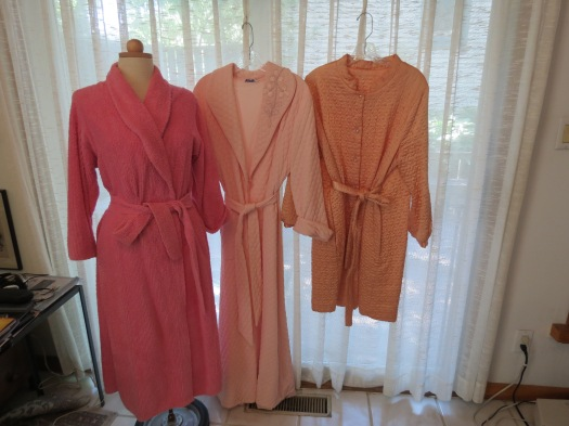 3 COZY & PRETTY BATHROBES FROM THE 1950'S