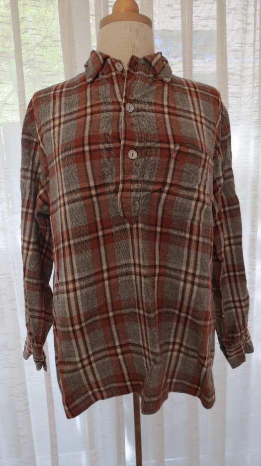 MEN'S TRUE VINTAGE WOOL SHIRT JACKET FROM THE 195O'S - EARLY 1960'S