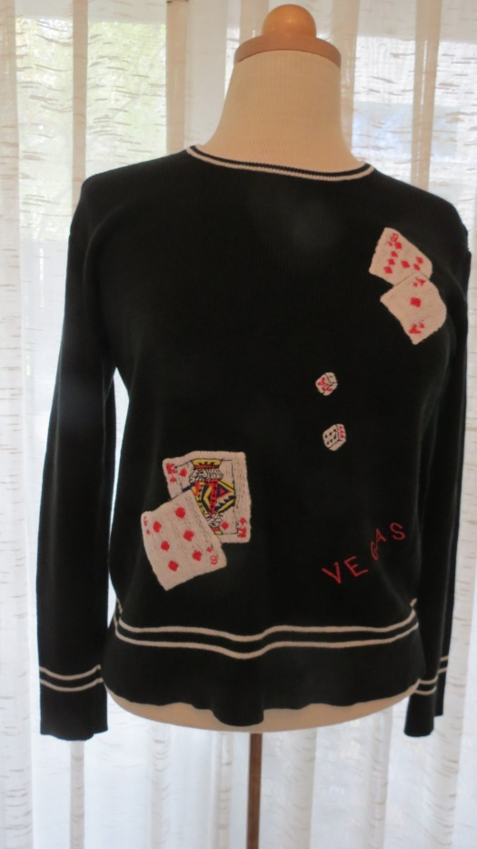 A FUN SOUVENIR SWEATER FROM LAS VEGAS - 1960'S - 1970'S.