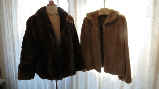2 BEAUTIFUL BEAVER JACKETS FROM THE MID-1950'S