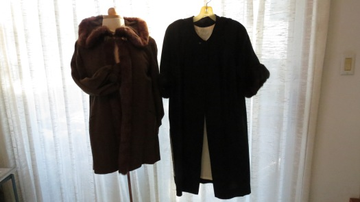 TWO UNUSUAL TRUE VINTAGE EVENING COATS - 1940'S - 1950'S