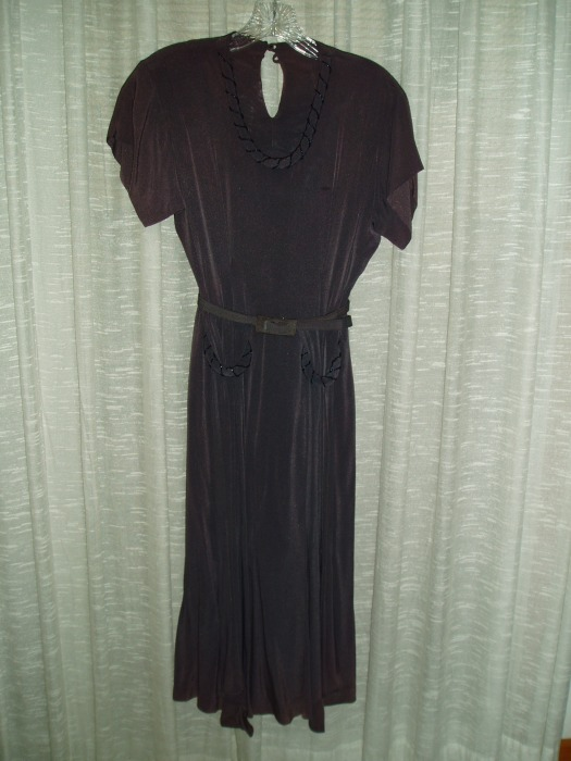 FABULOUS RAYON FIND - A TRUE VINTAGE BEADED DRESS FROM THE  1930'S/1940'S