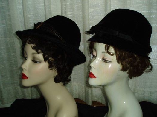 2 GREAT TRUE VINTAGE FASHION - STATEMENT HATS FROM THE 1960'S