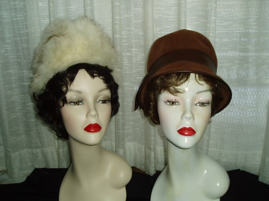 2 CLASSIC HATS, PROBABLY FROM THE 1960'S