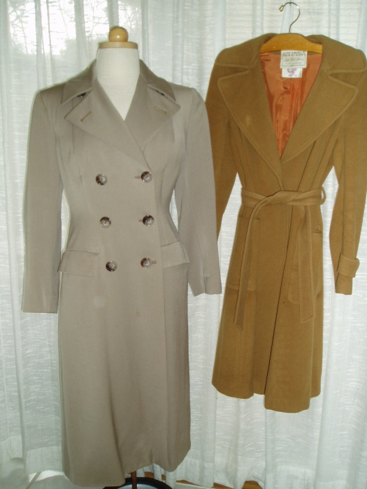 CLASSIC TRUE VINTAGE WOOL COATS, LIGHTENING UP FOR THE END OF WINTER