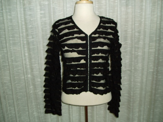 RUFFLED 1950'S JACKET TO WEAR OVER YOUR LITTLE BLACK DRESS