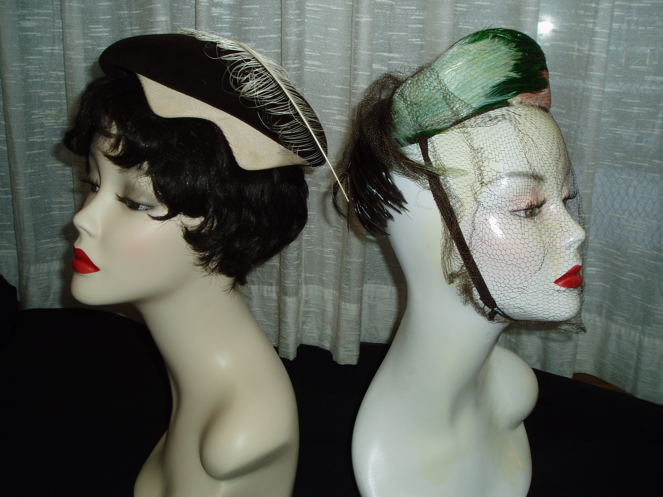 FOR CHURCH OR A ST. PATRICK'S DAY DRESSY EVENT, A GREEN FEATHER HAT IS CHIC!