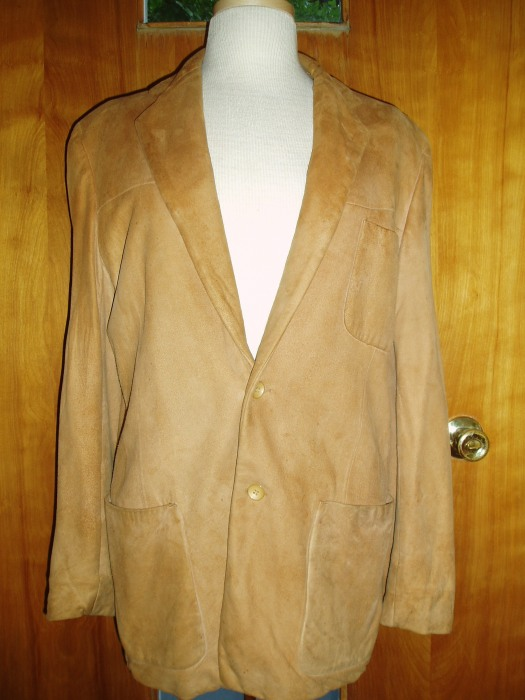 TRUE VINTAGE 1960'S MEN'S SUEDE LEATHER WESTERN-WEAR SPORT COAT