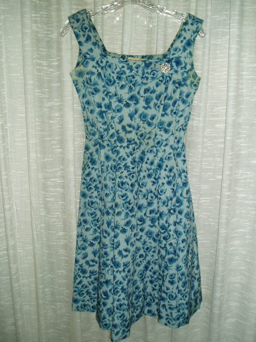 BYE - BYE BLUES!  A HAPPY FIFTIES PARTY DRESS ENDS MY BLUE SERIES, for the time being . . . .