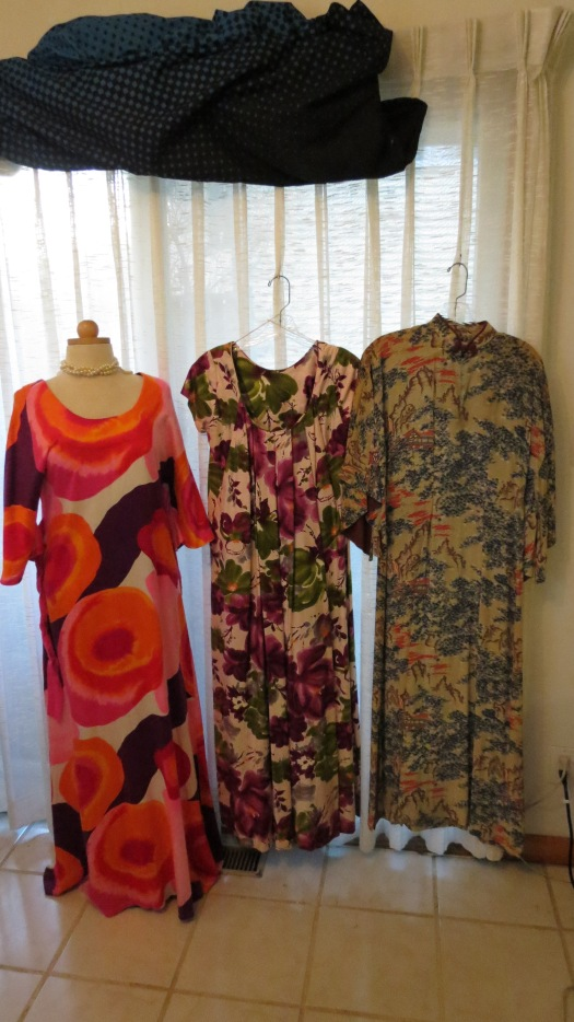 THREE OF MY MOST VINTAGE HAWAIIAN GOWNS