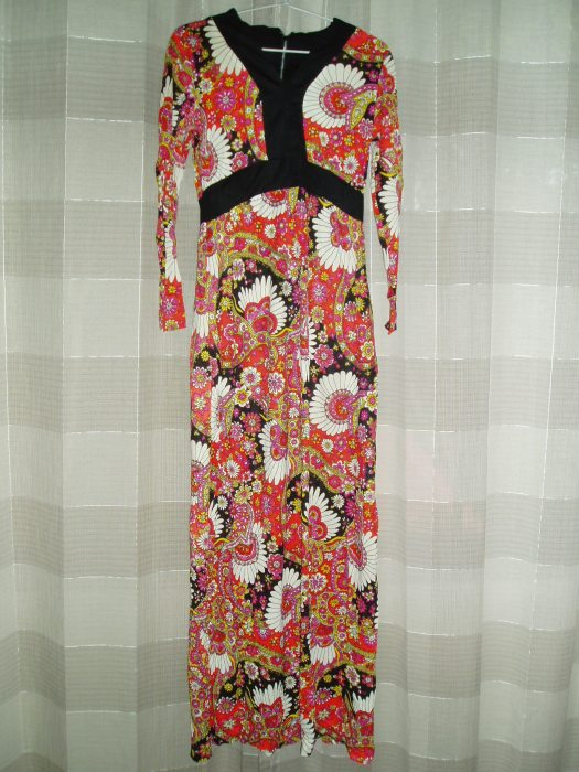 TRUE VINTAGE LATE '60'S - EARLY '70'S CALIFORNIA NOUVEAUX HIPPIE DRESS