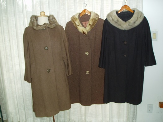 MY ELEGANT 1950'S WOMEN'S WINTER COATS WITH FUR