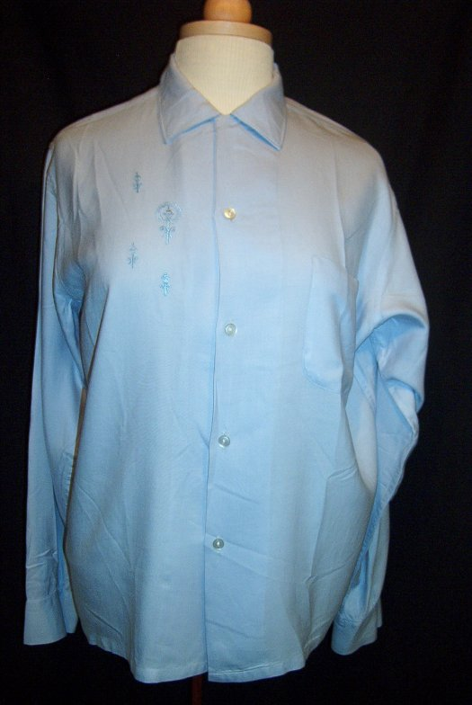TRUE VINTAGE MEN'S LONG-SLEEVED SHIRT FROM THE 1950'S