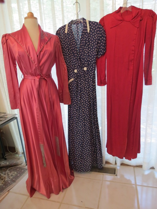 TRUE VINTAGE ROBES AND DRESSING GOWNS FROM THE  LATE 1930'S - 1940'S
