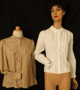 1980'S DOES 1940'S PIRATE SLEEVES AND TRUE VINTAGE FORTIES LADY